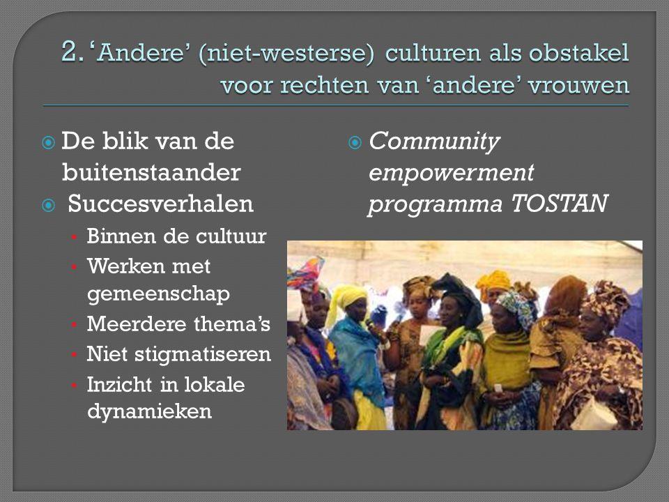 2. 'Andere' (niet-westerse) culturen als obstakel voor rechten van 'andere' vrouwen