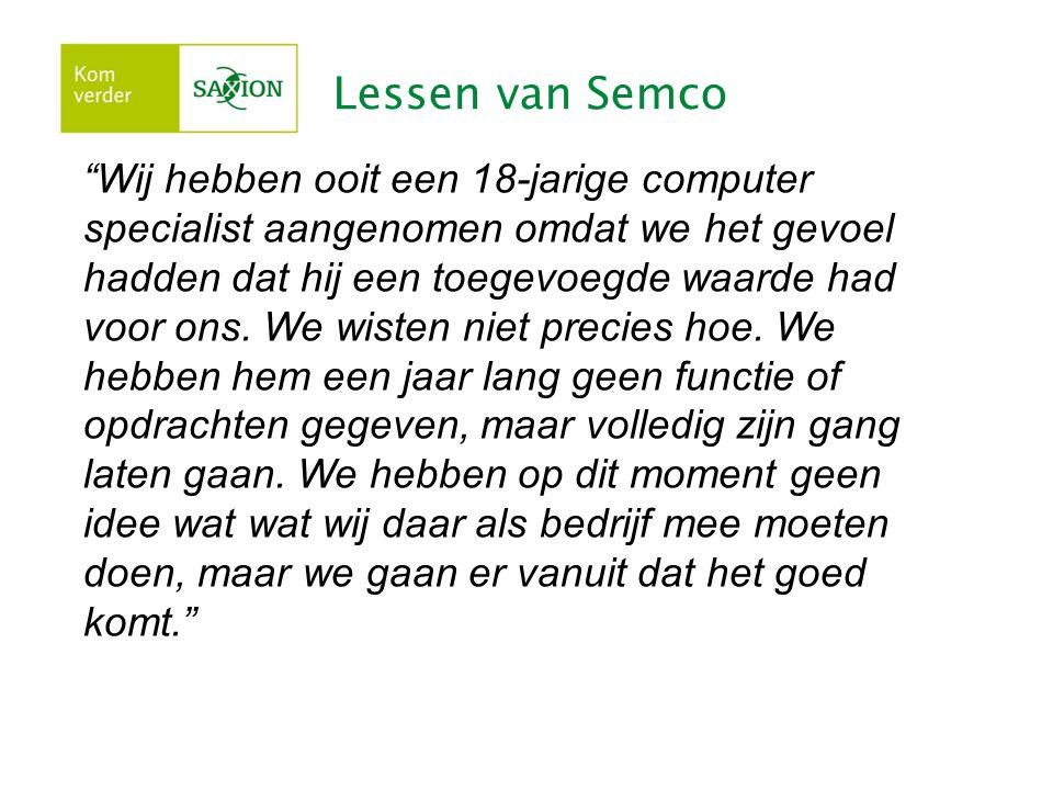 Lessen van Semco