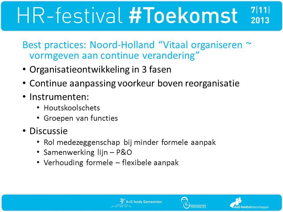 Best practices: Noord-Holland Vitaal organiseren ~ vormgeven aan continue verandering