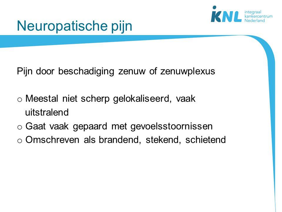Neuropatische pijn Pijn door beschadiging zenuw of zenuwplexus