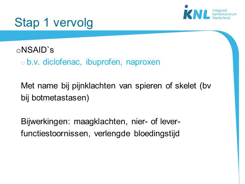 Stap 1 vervolg NSAID`s b.v. diclofenac, ibuprofen, naproxen