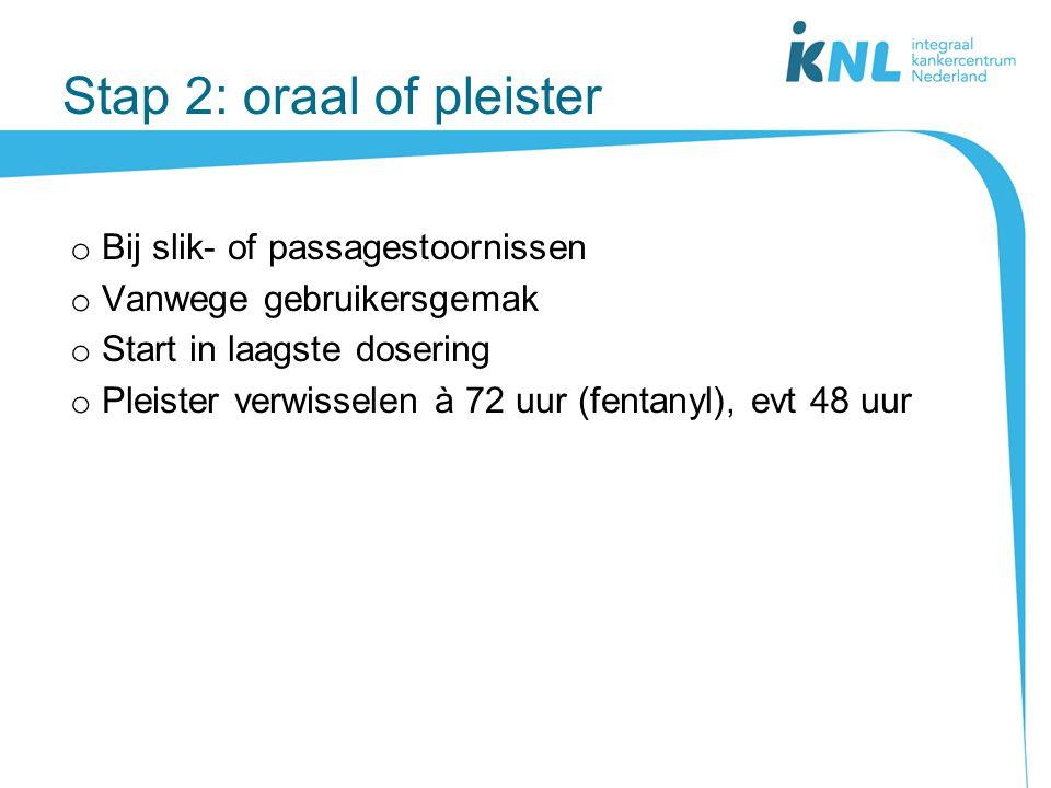 Stap 2: oraal of pleister