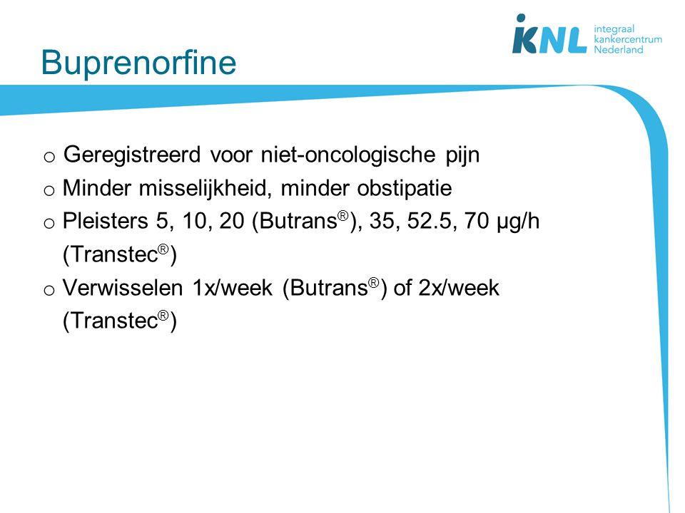 Buprenorfine Geregistreerd voor niet-oncologische pijn