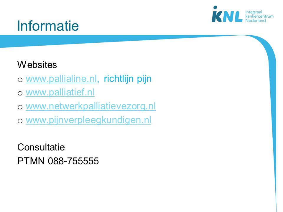 Informatie Websites www.pallialine.nl, richtlijn pijn