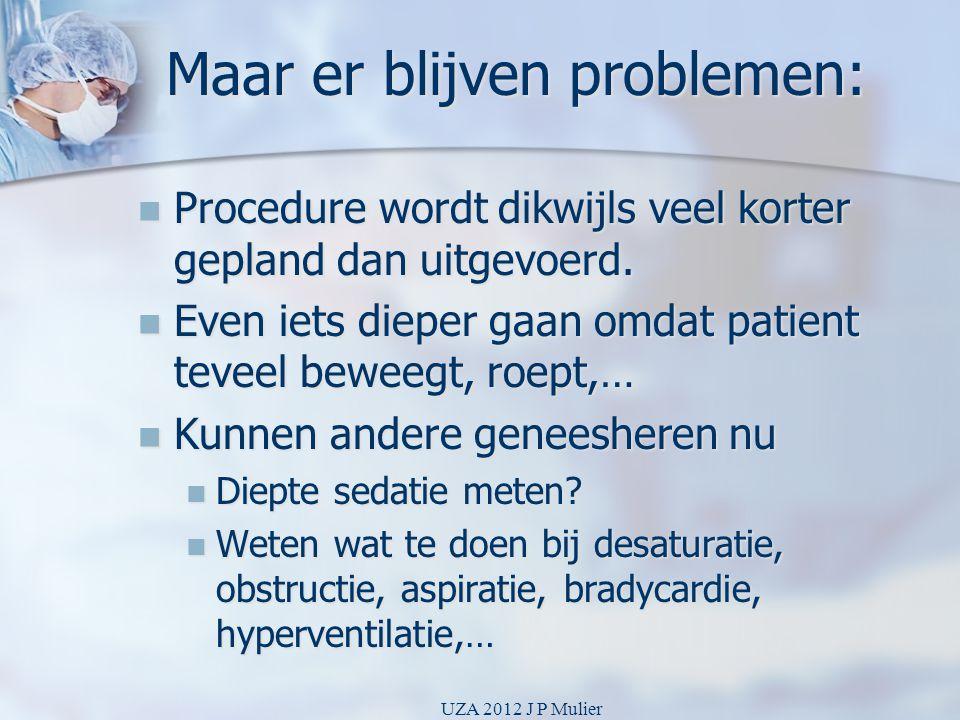Maar er blijven problemen: