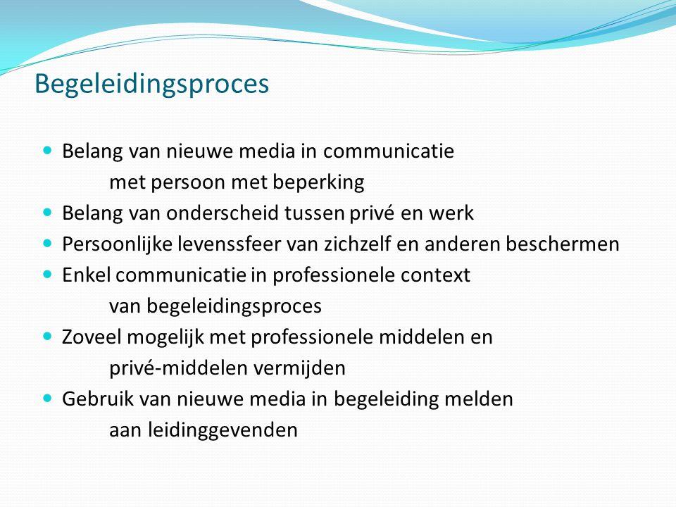 Begeleidingsproces Belang van nieuwe media in communicatie