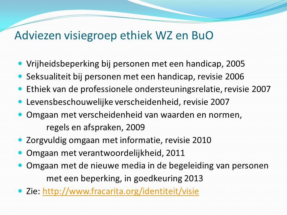 Adviezen visiegroep ethiek WZ en BuO