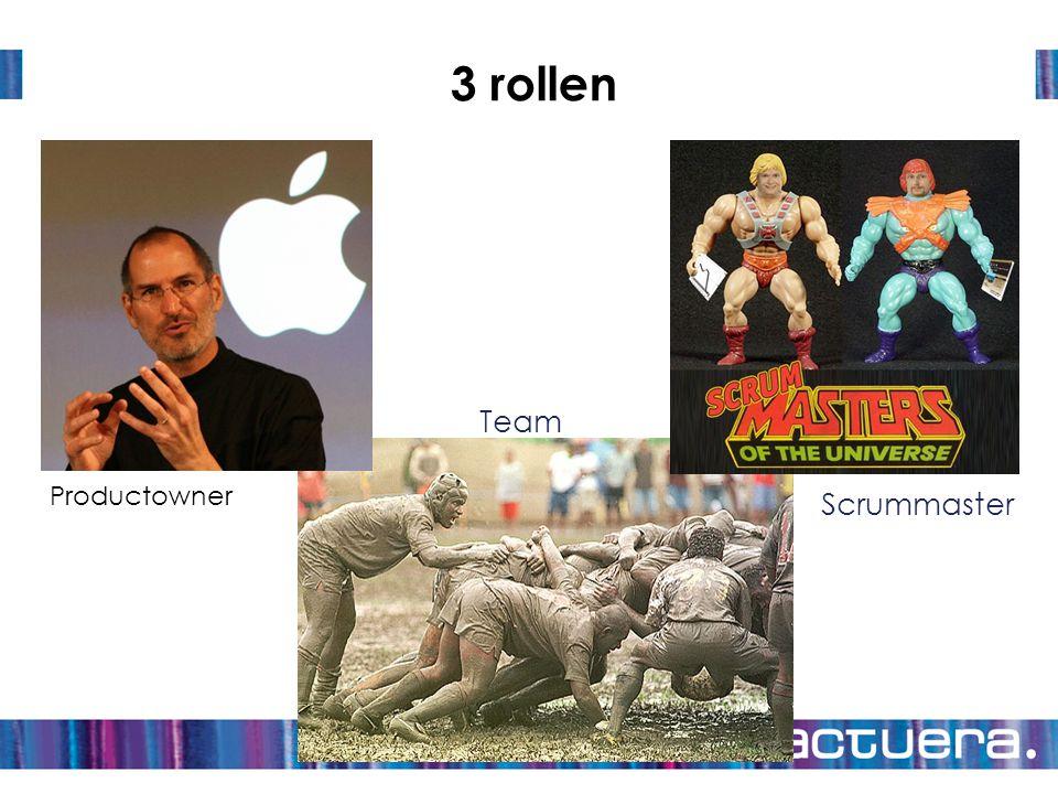 3 rollen Team Productowner Scrummaster