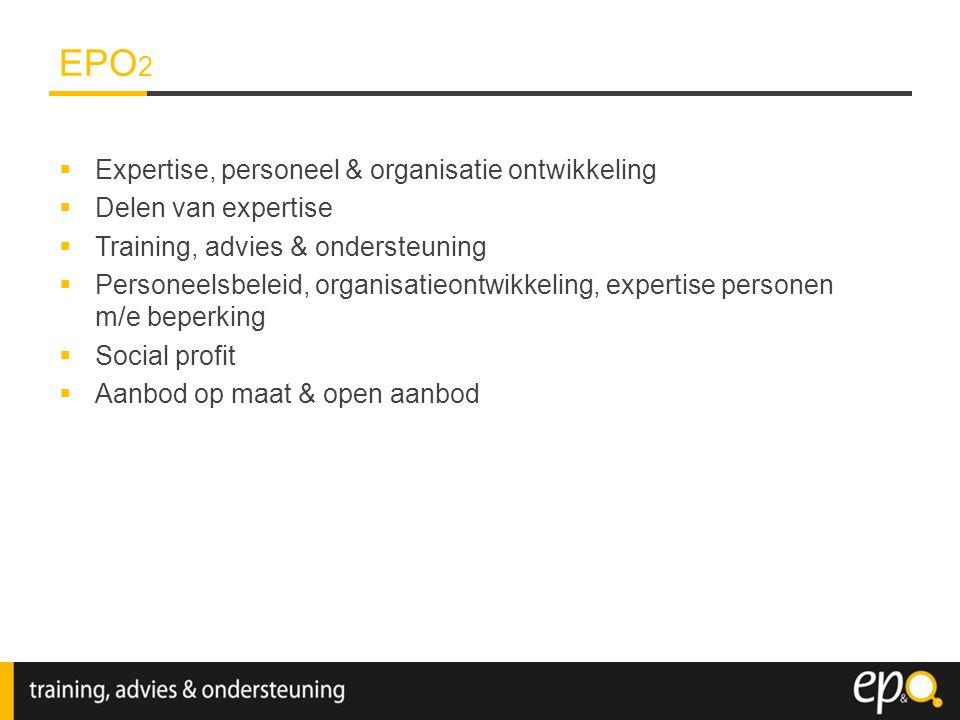 EPO2 Expertise, personeel & organisatie ontwikkeling