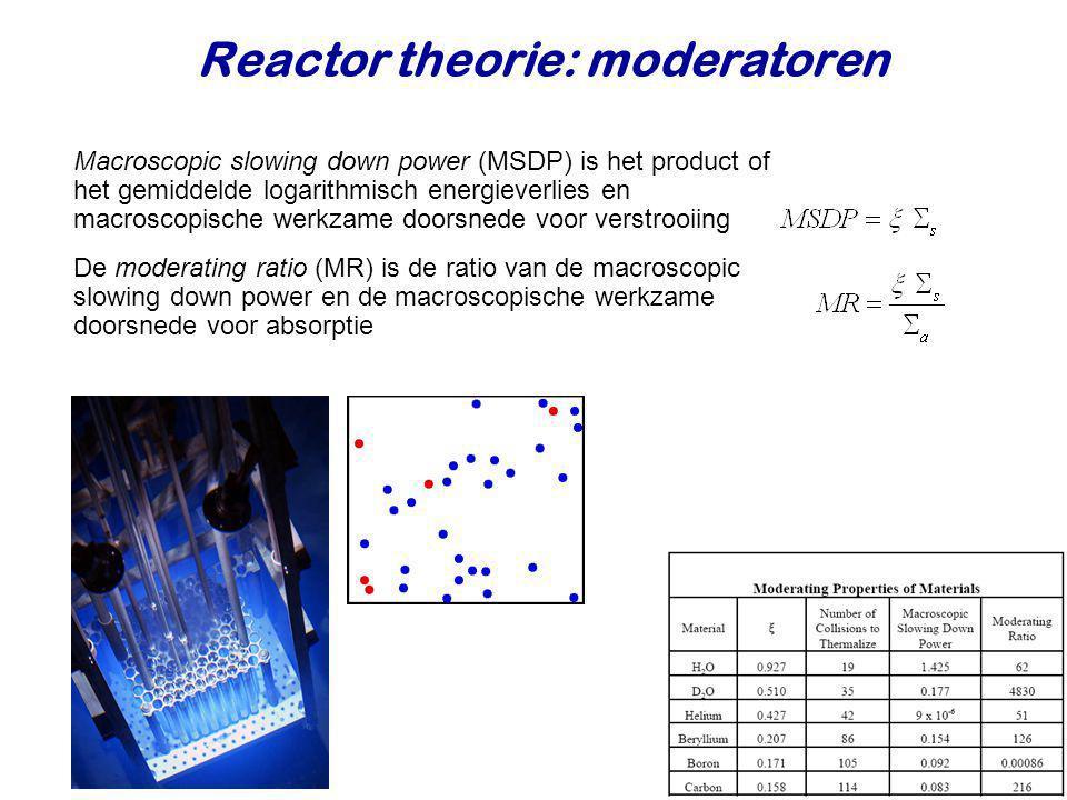 Reactor theorie: moderatoren