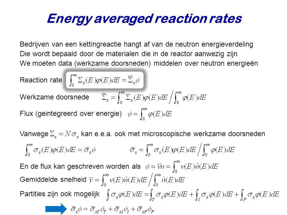 Energy averaged reaction rates
