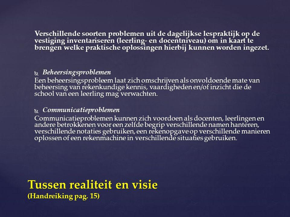 Tussen realiteit en visie (Handreiking pag. 15)