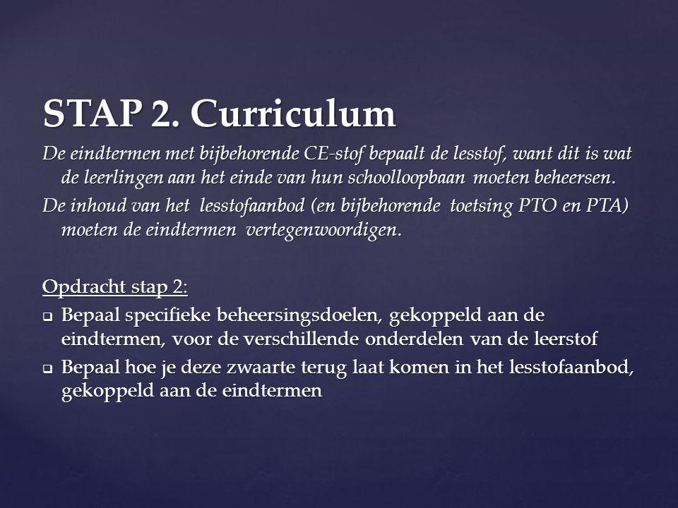 STAP 2. Curriculum