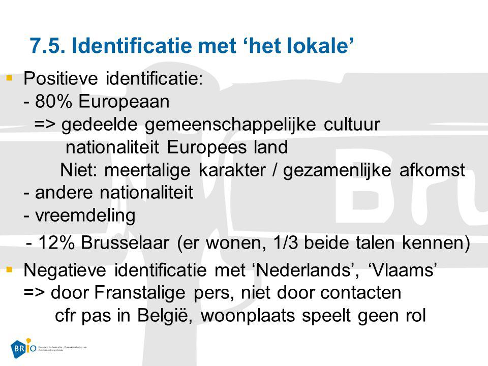 7.5. Identificatie met 'het lokale'