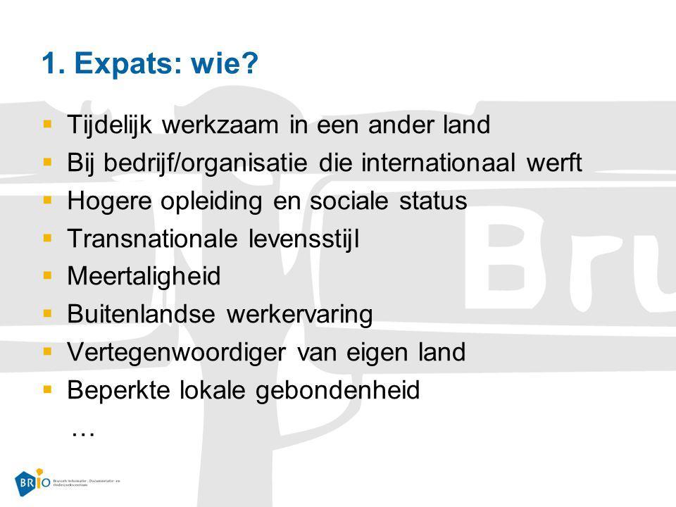 1. Expats: wie Tijdelijk werkzaam in een ander land