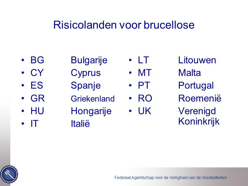 Risicolanden voor brucellose