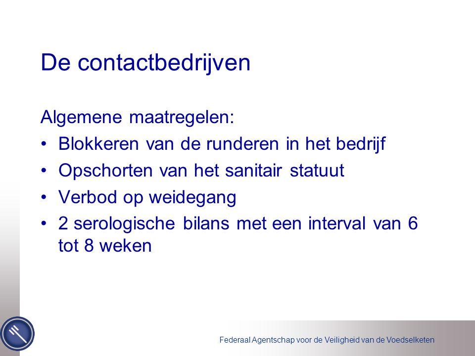 De contactbedrijven Algemene maatregelen: