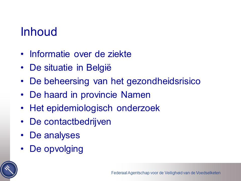 Inhoud Informatie over de ziekte De situatie in België