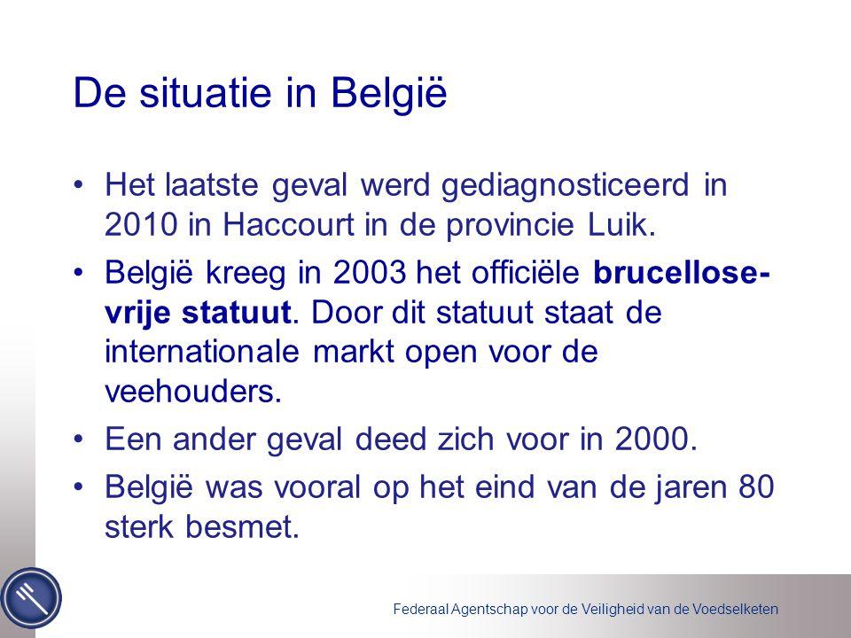 De situatie in België Het laatste geval werd gediagnosticeerd in 2010 in Haccourt in de provincie Luik.