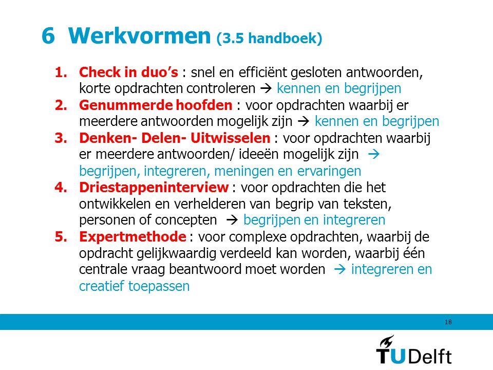6 Werkvormen (3.5 handboek)