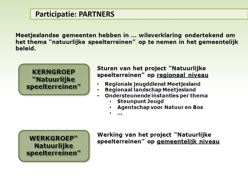 Participatie: PARTNERS
