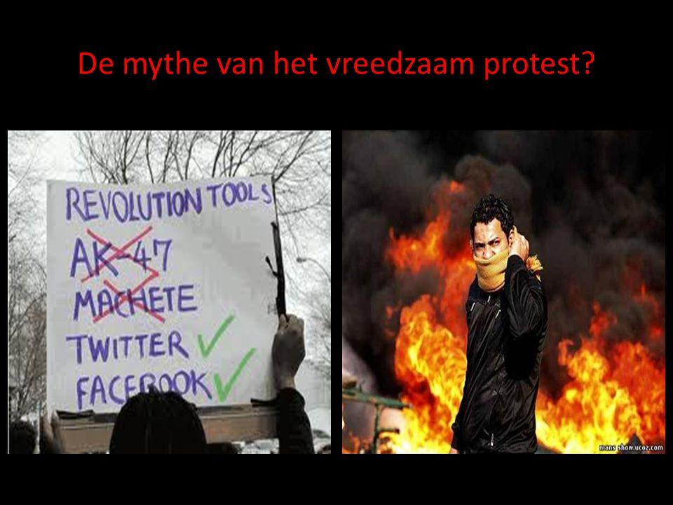 De mythe van het vreedzaam protest