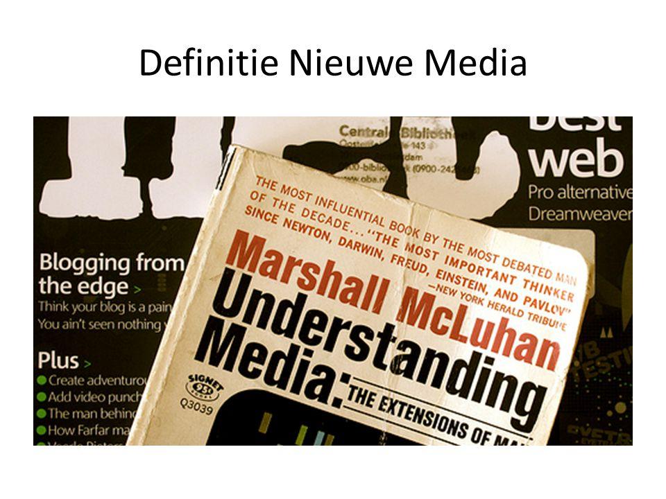 Definitie Nieuwe Media