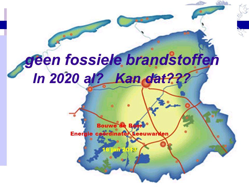 geen fossiele brandstoffen In 2020 al Kan dat