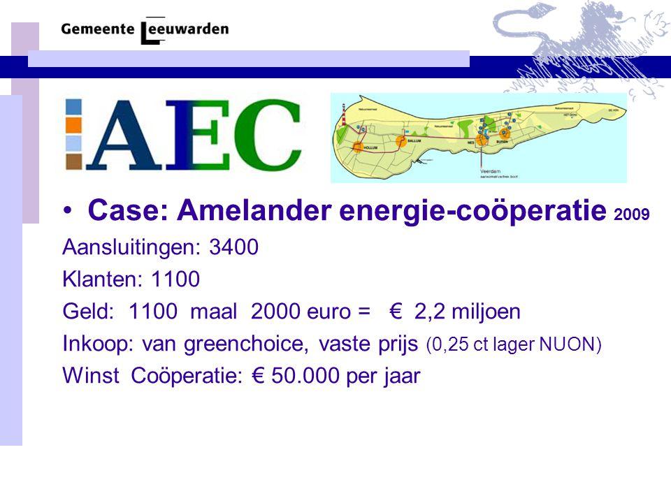 Case: Amelander energie-coöperatie 2009