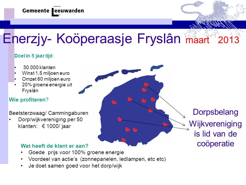 Enerzjy- Koöperaasje Fryslân maart 2013
