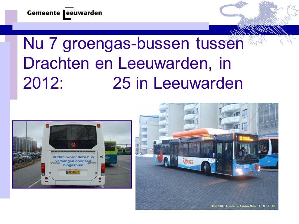 Nu 7 groengas-bussen tussen Drachten en Leeuwarden, in 2012: