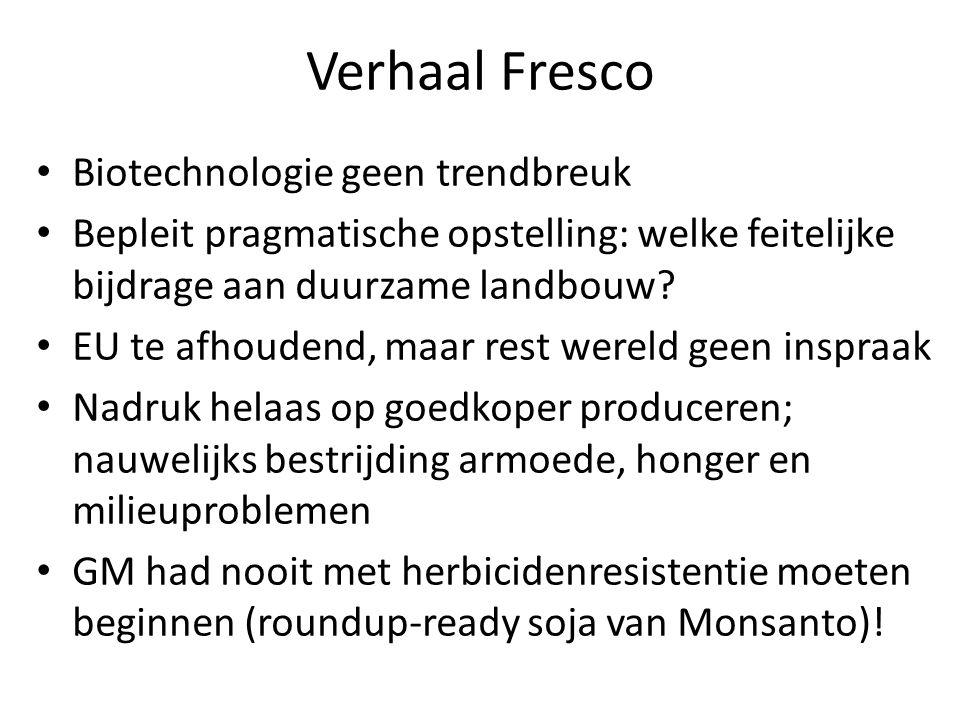 Verhaal Fresco Biotechnologie geen trendbreuk