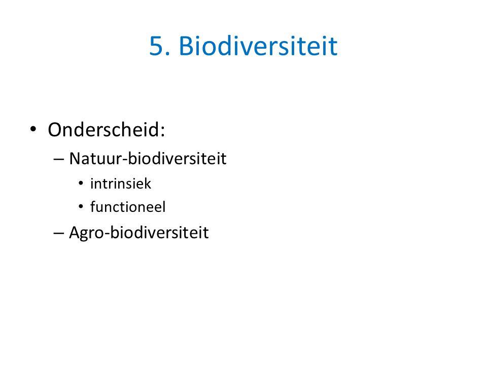 5. Biodiversiteit Onderscheid: Natuur-biodiversiteit