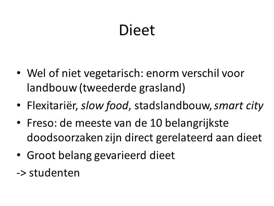 Dieet Wel of niet vegetarisch: enorm verschil voor landbouw (tweederde grasland) Flexitariër, slow food, stadslandbouw, smart city.