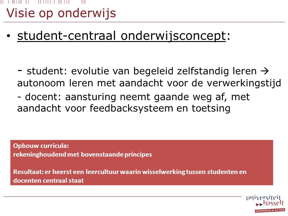 student-centraal onderwijsconcept: