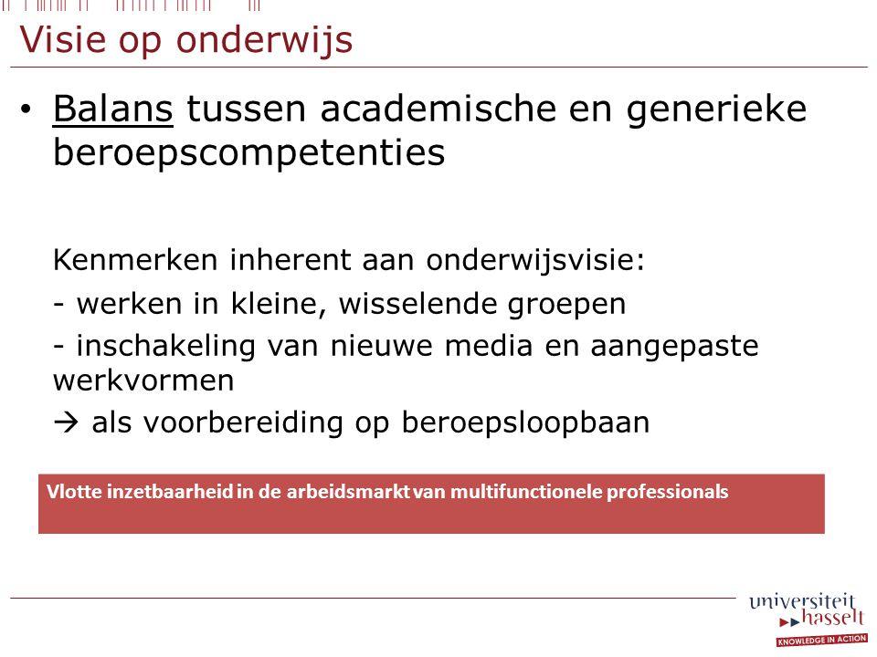 Balans tussen academische en generieke beroepscompetenties
