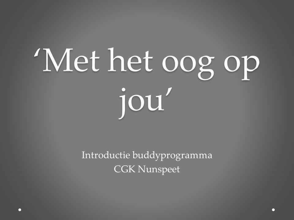 Introductie buddyprogramma CGK Nunspeet