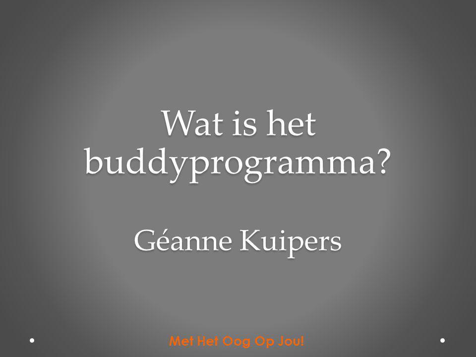 Wat is het buddyprogramma Géanne Kuipers