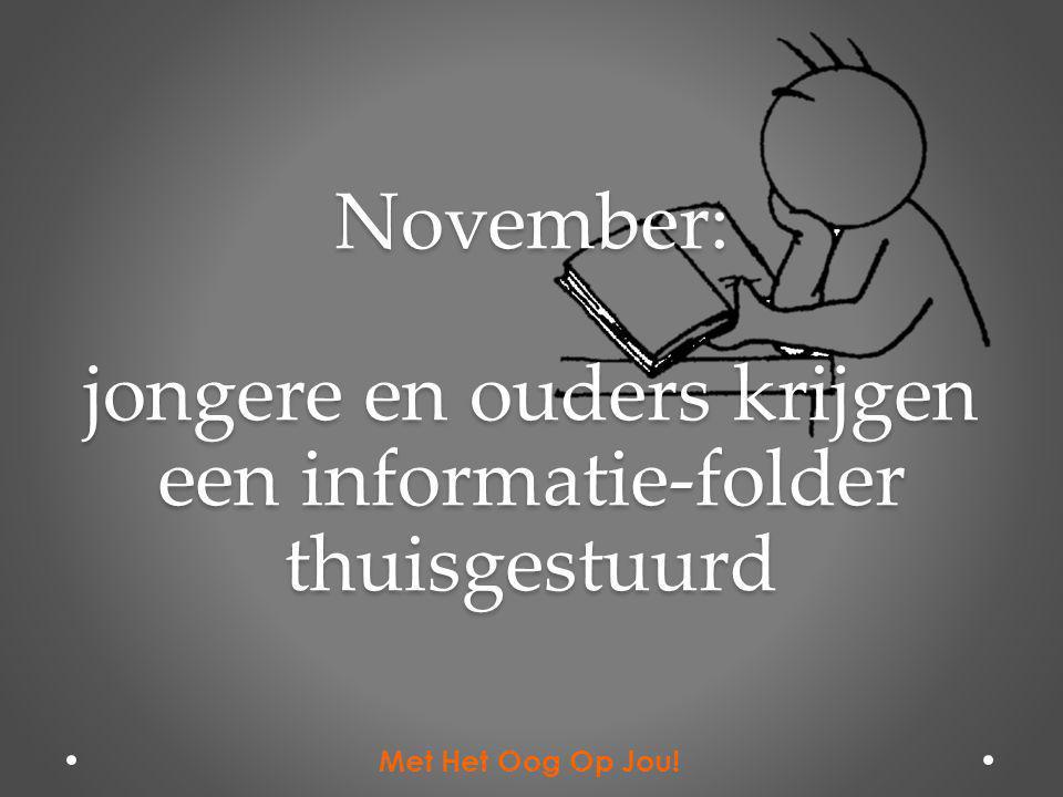 November: jongere en ouders krijgen een informatie-folder thuisgestuurd