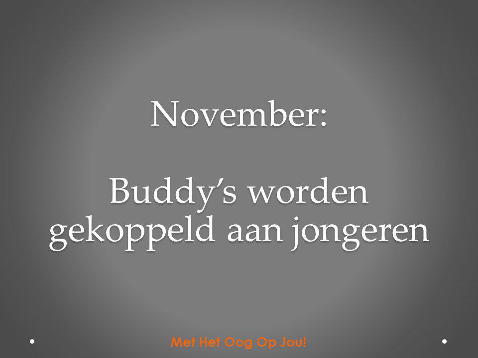 November: Buddy's worden gekoppeld aan jongeren