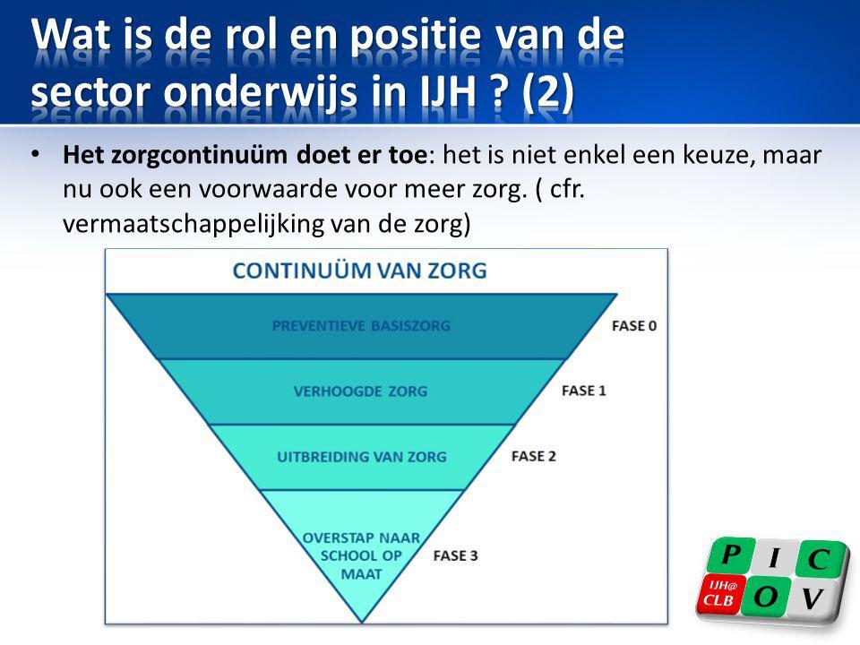 Wat is de rol en positie van de sector onderwijs in IJH (2)