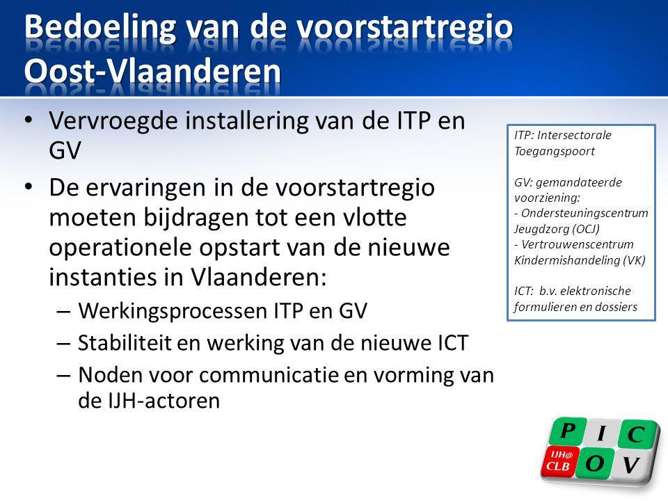Bedoeling van de voorstartregio Oost-Vlaanderen