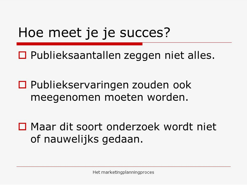 Het marketingplanningproces