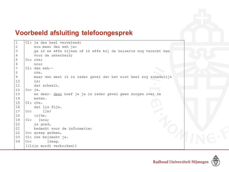 Voorbeeld afsluiting telefoongesprek