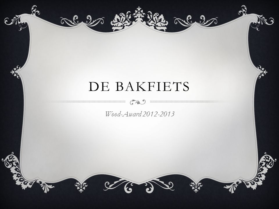 De Bakfiets Wood-Award 2012-2013
