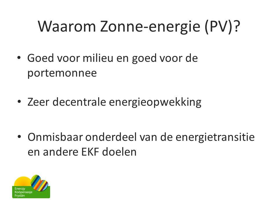 Waarom Zonne-energie (PV)