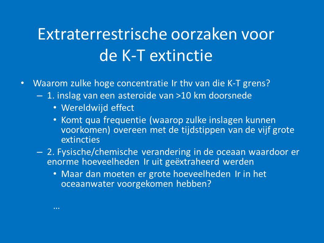 Extraterrestrische oorzaken voor de K-T extinctie