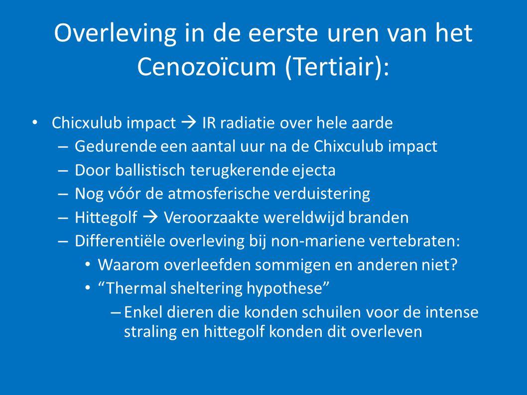 Overleving in de eerste uren van het Cenozoïcum (Tertiair):