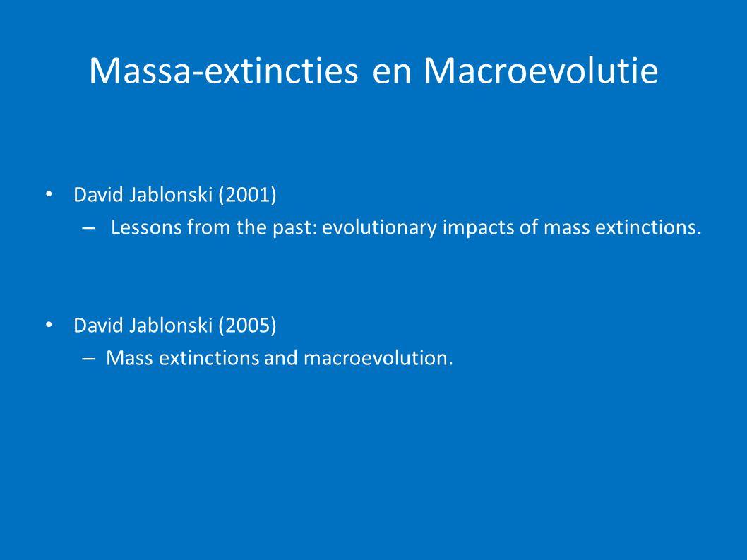 Massa-extincties en Macroevolutie