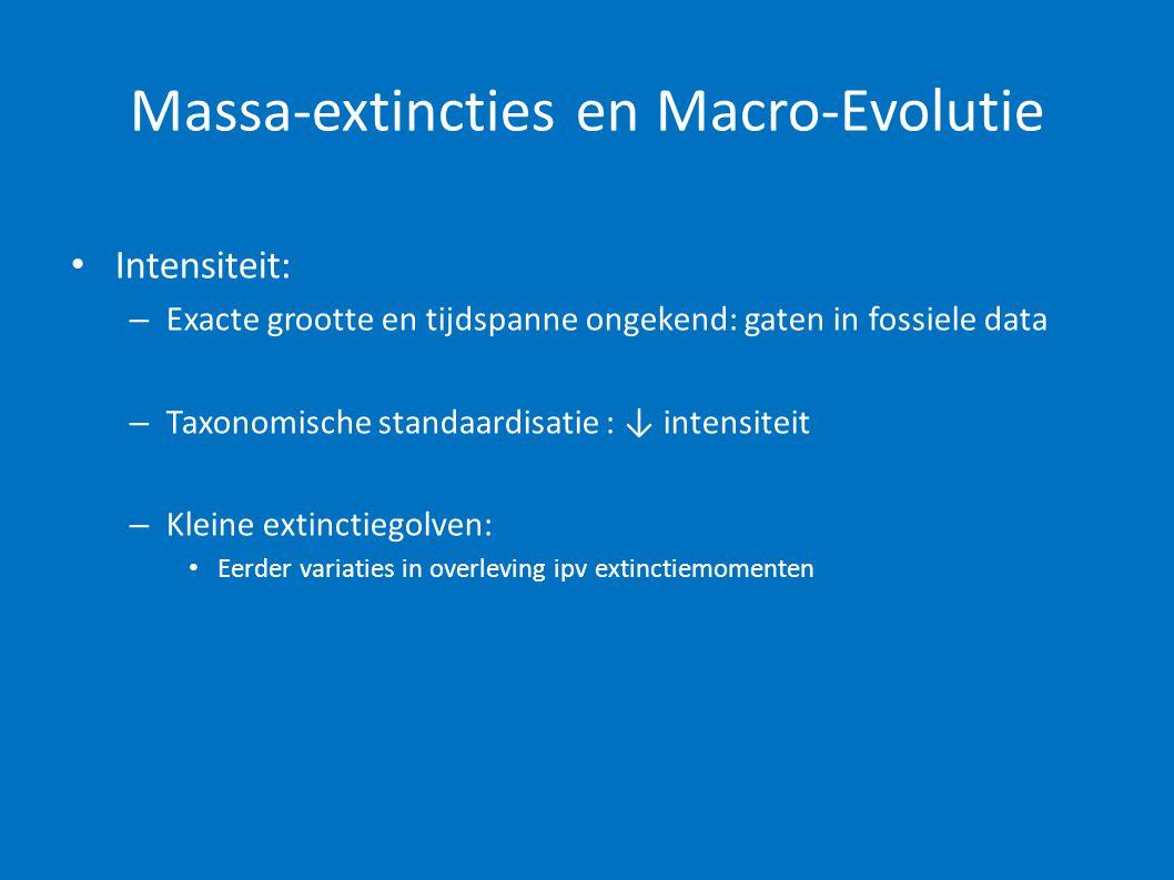Massa-extincties en Macro-Evolutie